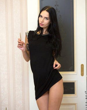 Tall and super skinny, Veronica A. is a Russian.. Pics